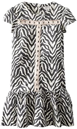 kc parker Big Girls' Big Stretch Velveteen Dress, Animal Print, 12