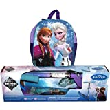 Huffy Disney Frozen 2 Piece Scooter & Backpack Combo Set Girls' Inline Kick Scooter Age 5+ Anna & Elsa Backpack