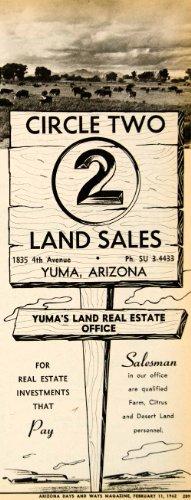 1962-ad-circle-two-land-sales-yuma-real-estate-investment-farm-citrus-desert-original-print-ad