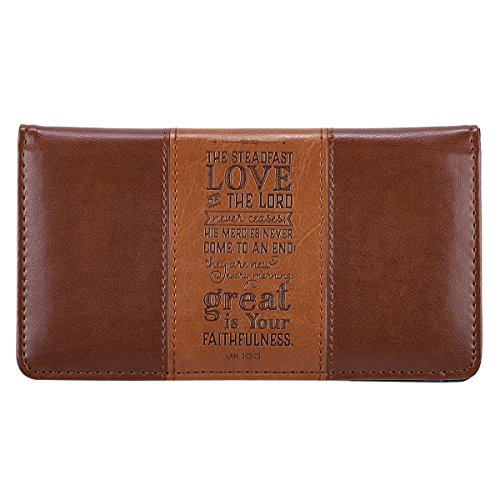 Steadfast-Love-Two-tone-Checkbook-Cover