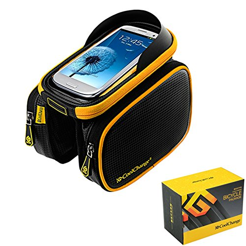 Bicycle Frame Pannier Bag and Front Tube Cell Phone Bag with