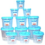 Chetan Twist Lock Storage Container, 12 Pieces, Blue Color