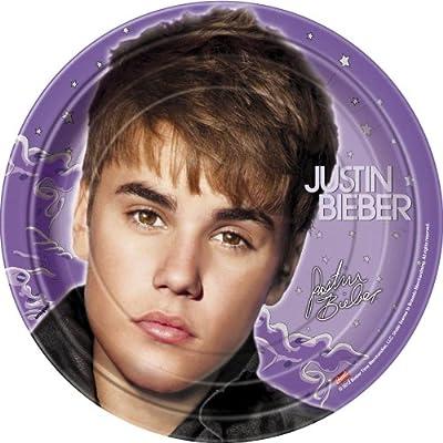 Justin Bieber Dinner Plates, 8ct