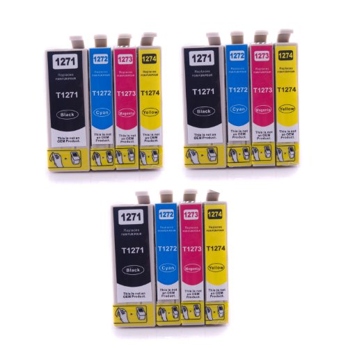 SPEED Compatible Ink Cartridge Replacement for Epson T127 (3xBlack, 3xCyan, 3xMagenta, 3xYellow, 12-Pack)