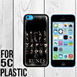Mortal Instruments Runes Custom made Case/Cover/skin FOR iPhone 5c -Black - Snap On Plastic Case (Ship From CA)