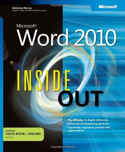 Microsoft Word 2010 Inside Out (Inside Out (Microsoft))
