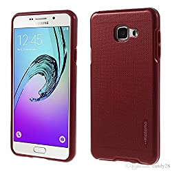 BESDEALS IN - New 2016 Motomo Armor Hybrid shockproof Stylish Hard Back Case for Samsung J5 - Red