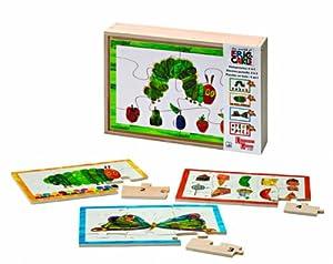 University Games - 31280 - Puzzle - La Chenille Qui Fait des Trous en Bois - 4 en 1