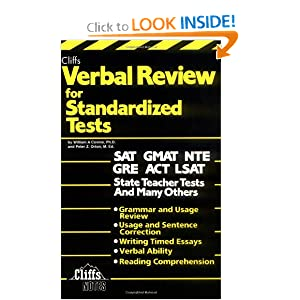 cliffs verbal view for standardized test