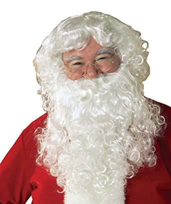 Rubie's Costume Value Santa Beard And Wig Set, White, One Size