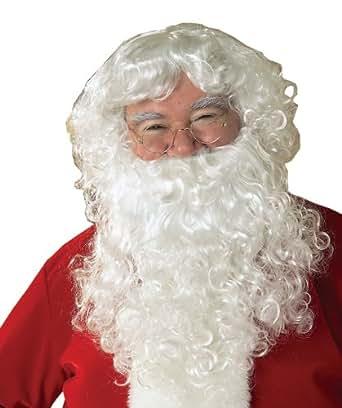 Mens father christmas wig amp beard set rubies adults santa fancy dress