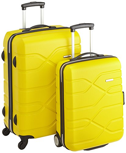 American Tourister Houston City 2 PC Set A da 2 Valigie, 70 cm, Giallo