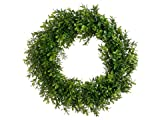 """17"""" Boxwood Wreath Two Tone Green (Pack of 6)"""