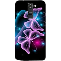 Casotec Butterflies Neon Light Design 3D Hard Back Case Cover For LG K10