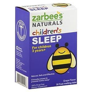 Zarbee's Naturals Children's Sleep, 30 count (Pack of 4) , Zarbee-lohd