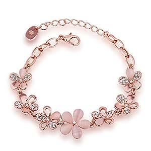 Buy Aaishwarya Gold Crystal Charm Bracelet For Girls