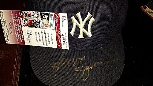 Reggie Jackson Owned Yankee Hat Signed Gold Paint Pen - JSA Certified Authenticated