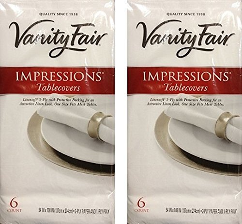 Vanity Fair Disposable Tablecovers 3 Ply 54 X 108 6 Import It All