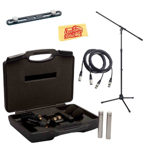 Rode Nt5-Mp Matched Pair Of 1/2-Inch Cardioid Condenser Microphones Bundle With Mic Stand, Stereo Bar, 2 Mic Cables, Mic Clips, Carrying Case, Windscreens, And Polishing Cloth