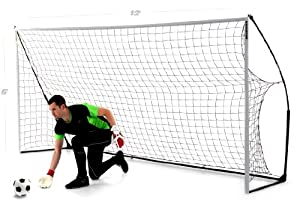 QuickPlay Sport Kickster Academy Ultra Portable Football Goal - Black, 12 x 6 Ft