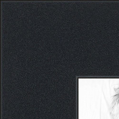 ArtToFrames 22x23 /  22  x  23 Picture Frame Satin Black ..  2'' wide (2WOMFRBW74)