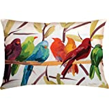 Manual Woodworkers & Weavers Climaweave Indoor/Outdoor Decorative Throw Pillow, 24 by 18-Inch, Flocked Together...