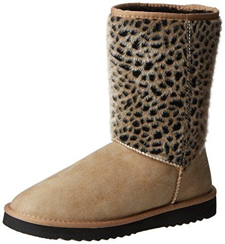 ESPRIT Uma Leo Boot, Stivaletti a gamba media senza chiusura, imbottitura pesante donna, Marrone (Braun (230 camel)), 38