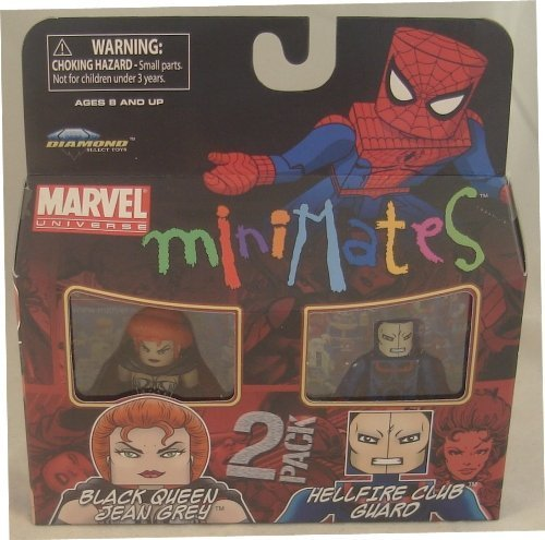 Picture of Art Asylum Marvel Minimates Series 34 Mini Figure 2Pack Black Queen Jean Grey & Hellfire Club Guard (B003EUT96E) (Marvel Action Figures)