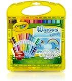 Crayola Window Marker and Stencil Set, 25 Mini Window Markers