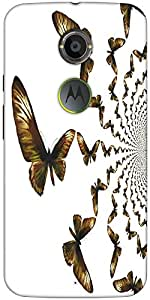 Snoogg Kaleidoscopic Butterflies Designer Protective Back Case Cover For Moto...