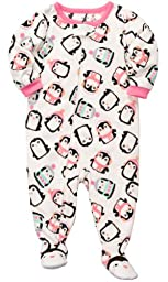 Carter\'s Girls 1-piece Micro-fleece Pajamas (3T, Penguin)