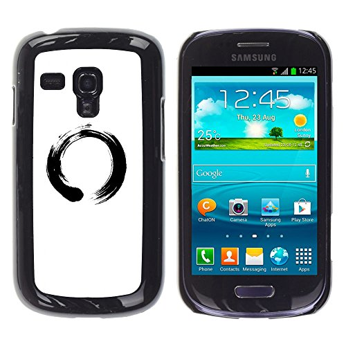 Good Phone Accessory // Hard Case Protective Plastic Cover Case for Samsung Galaxy S3 MINI 8190 // Chinese Symbol Circle
