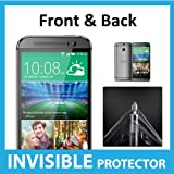 HTC One M8 Full Body INVISIBLE Screen Protector (Front & Back included) Military Grade Protection Exclusively from ACE CASE