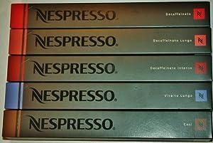 50 NESPRESSO COFFEE CAPSULES INCLUDING DECAF