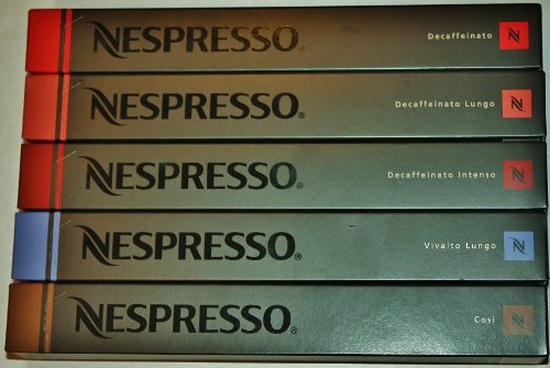 50 NESPRESSO COFFEE CAPSULES INCLUDING DECAF