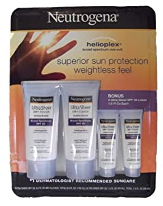 Neutrogena Broad Spectrum Ultra Sheer Dry-Touch SPF 55 with Helioplex 4 Pack