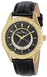Lucien Piccard Women's LP-12721-YG-01 Staz Analog Display Quartz Black Watch by Lucien Piccard