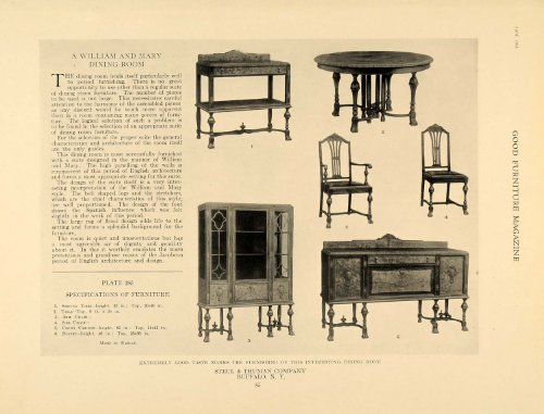 1918 Ad William Mary Furniture Steul Amp Thuman Company