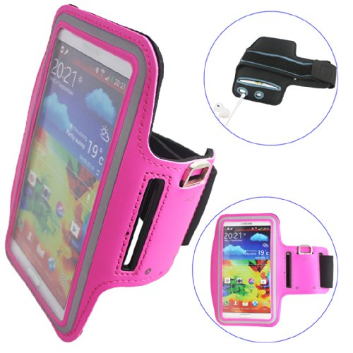 Ancerson New Adjustable Sports Sporty Pu Leather Armband Protective Sleeve Bag Slim Case Cover Shell Skin With Key Earphone Headset Headphone Holder Slot For Devices Not Bigger Than Galaxy Note 3: Mp3/Mp4/Mp5 Player, Ipod Touch 2 3 4 5, Ipod Touch 2 3 4 5
