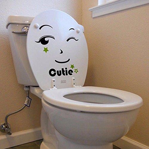 FeiFei(フェイフェイ) 賃貸OK! 剥がせる!W008=トイレの笑顔フェイス Cutie キューティ/(付属品:専用ポスターケース梱包+練習用転写シール+簡易取説付)ウォールステッカー・インテリアシート・リメイクシート