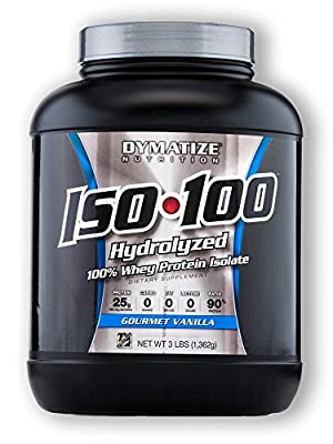 Dymatize ISO100 Hydrolyzed 100% Whey Protein Isolate Gourmet Vanilla