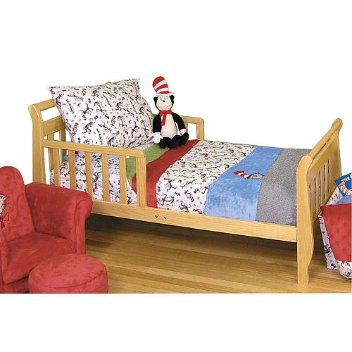 Trend Lab Dr. Seuss Cat In The Hat 4-Piece Toddler Bedding Set - Black And White front-197461