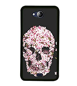 Flower Skull 2D Hard Polycarbonate Designer Back Case Cover for Micromax Canvas Play Q355