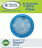 Dyson DC25 Lifetime Washable & Reusable HEPA Vacuum Cleaner Filter, Replaces Dyson Vacuum Part # 914790-01