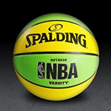 NBA Varsity Neon Basketball - Green/Yellow