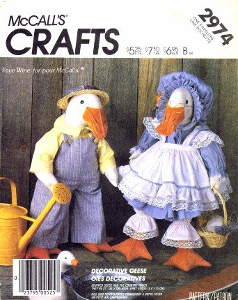 McCall's 2974 Sewing Pattern Stuffed Geese Animal Clothes (Goose Clothes Patterns compare prices)