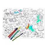 Set of Placemat Colouring Pages - Fun Characters||RLCTB
