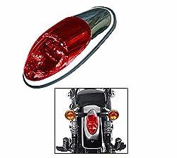 Speedwav Long Red Glass Bike Tail/Brake Light-Royal Enfield-U