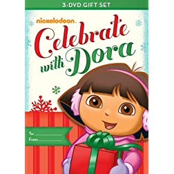 Dora the Explorer: Dora Celebrates Three-Pack (Dora's Christmas / Dora's Halloween / Dora's Big Birthday Adventure)