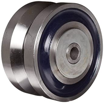 RWM Casters V-Groove Wheel with Straight Roller Bearing 7000 lbs Capacity
